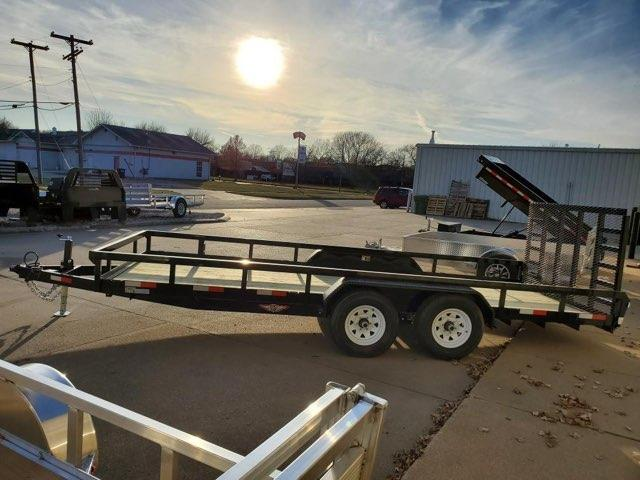 2021 H and H Trailer 82x18 Heavy Duty Rail Side Landscape Tra