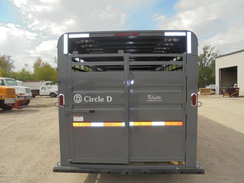 2020 Circle D 6-8X24 GN Livestock Trailer