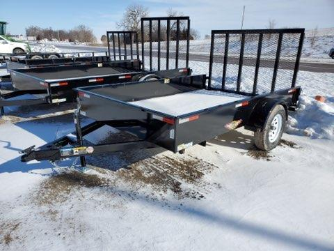 2021 H and H Trailer 76X10 STEEL SOLID SIDE 3.5K
