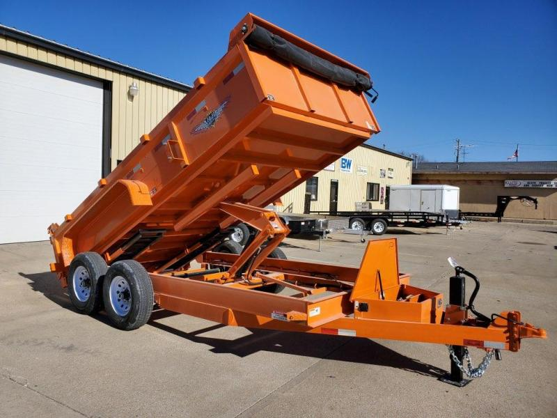 2021 H and H Trailer 83x14 Industrial Dump Trailer  14K Sciss