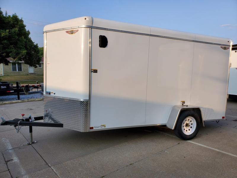 2021 H and H Trailer 6X12 SINGLE RND TOP HH V-NOSE 3.5K CARGO