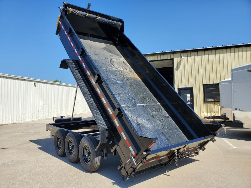 2021 H and H Trailer 82x16 Triple Axle 21K Telescopic Dump Trailer