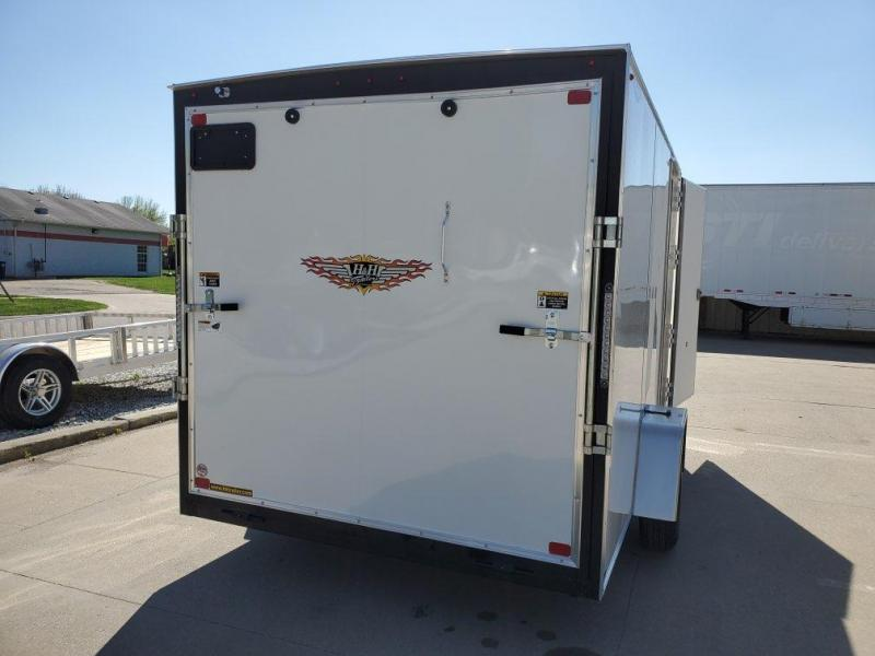 2021 H and H Trailer 7x12 Flat Top V-Nose Cargo 3.5K