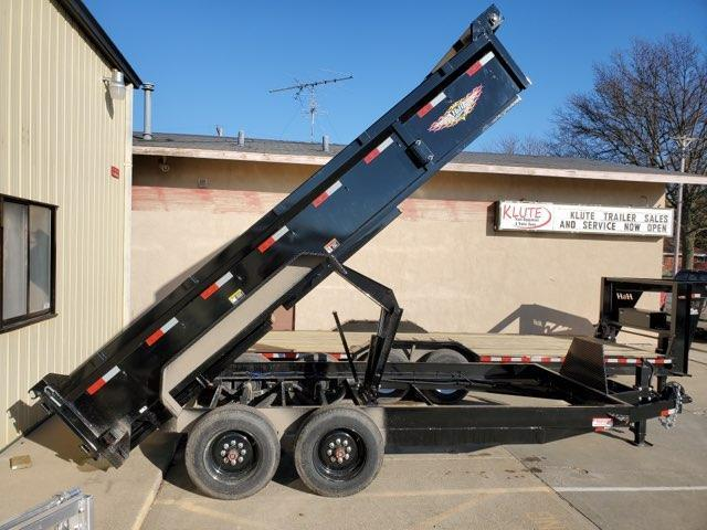2021 H and H Trailer 83x16 Industrial Dump Trailer  16K Sciss