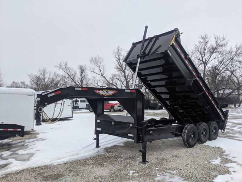 2021 H and H Trailer 82x16 GN Triple Axle 21K Telescopic Dump Trailer
