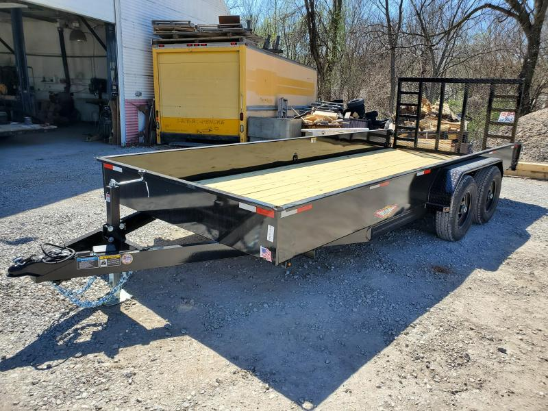 2020 H and H Trailer 82X18 STEEL SOLID SIDE TANDEM 10K