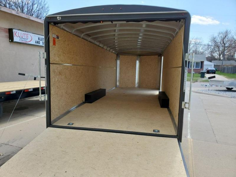 2021 H and H Trailer 8.5x24 HH Series Round Top V-Nose Enclos