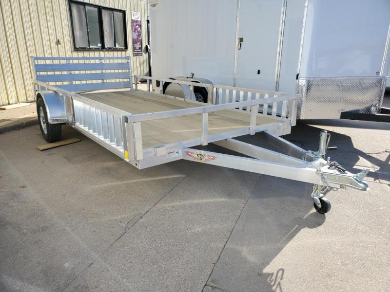 2021 H and H Trailer 82x14 Aluminum ATV Trailer  3K Idler