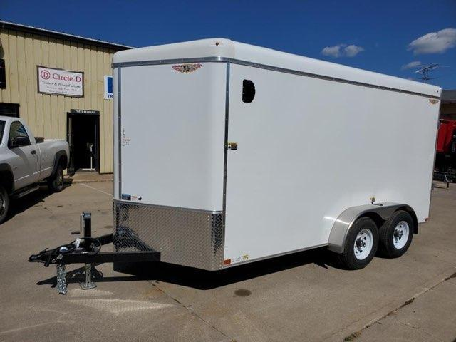 2022 H and H Trailer 7x14 HH Series Round Top V-Nose Enclosed