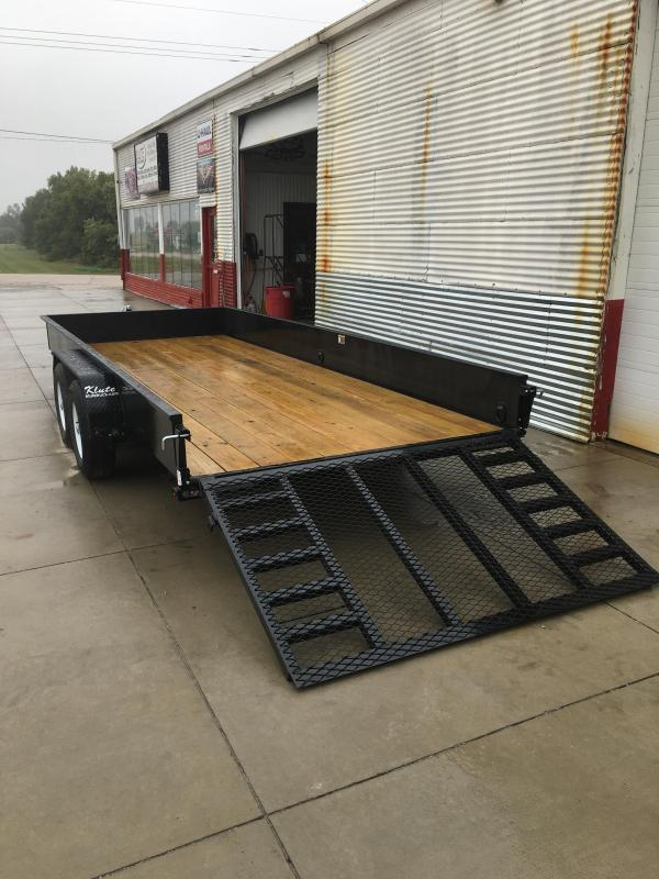 2021 H and H Trailer 82X18 STEEL SOLID SIDE TANDEM 10K