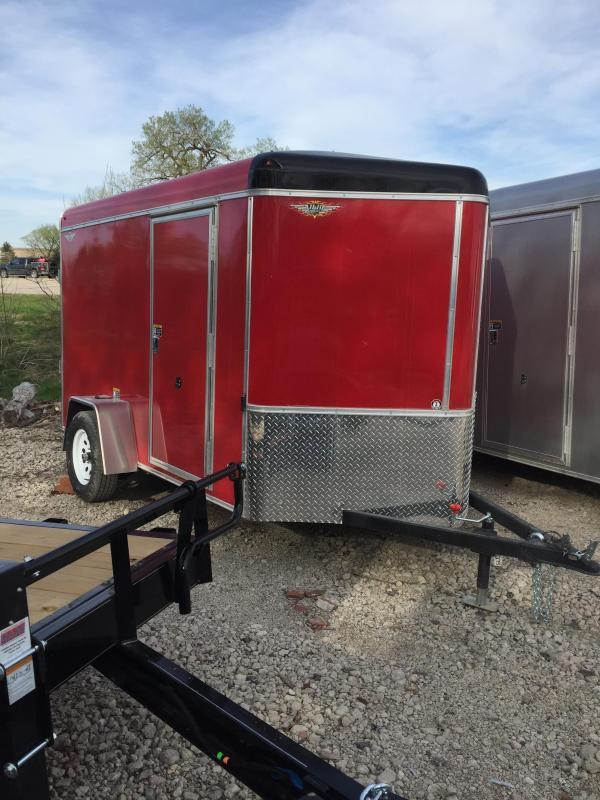 2020 H and H Trailer 6X10 SINGLE RND TOP HH V-NOSE 3.5K CARGO