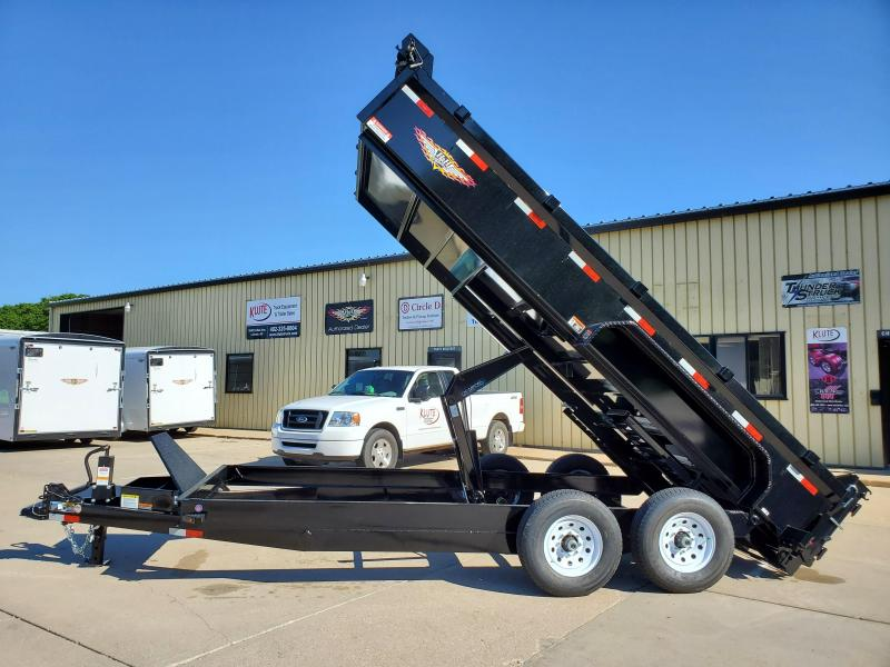 2021 H and H Trailer 83X16 DBW DUMP BOX 14K