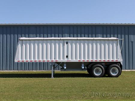 Jet Co 26' Offset Single Hopper Steel Grain Trailer