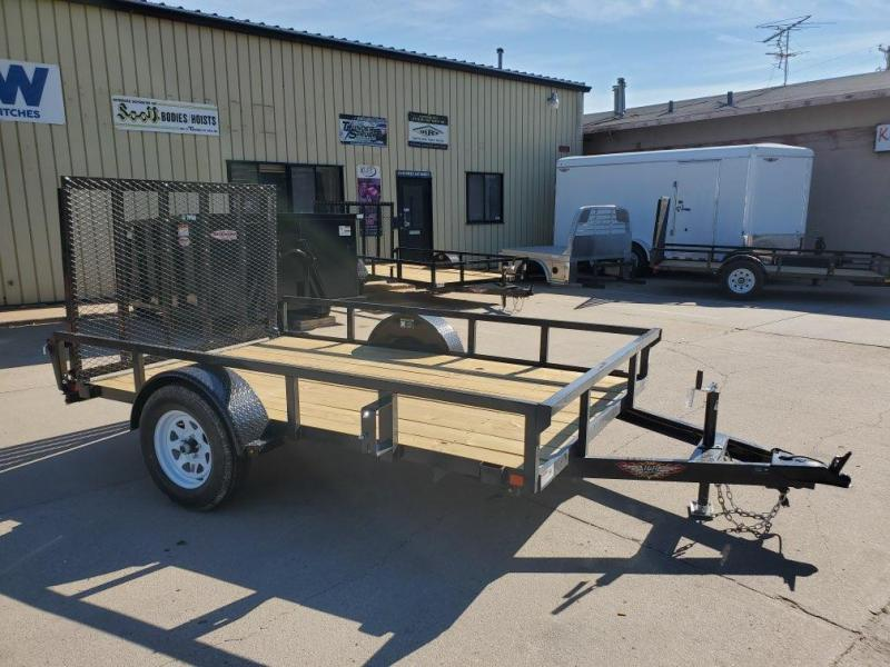 2021 H and H Trailer 76x10 Rail Side Utility Trailer  3K Idle