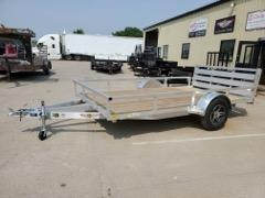 2021 H and H Trailer 82x12 Aluminum Rail Side Utility Trailer