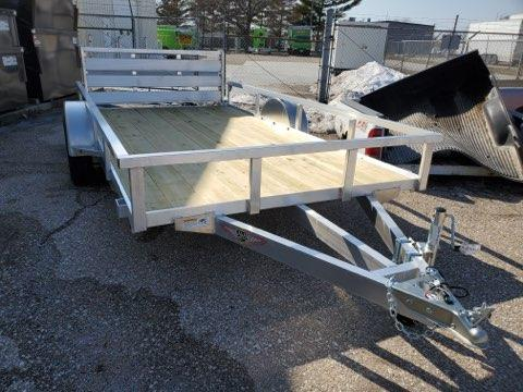 2021 H and H Trailer 76x12 Aluminum Rail Side Utility Trailer