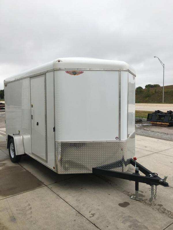 2021 H and H Trailer 7X12 SINGLE RND TOP HH V-NOSE 3.5K CARGO