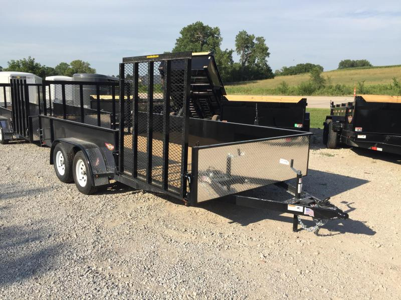2020 H and H Trailer 8.5X16 STEEL SOLID SIDE TANDEM 7K