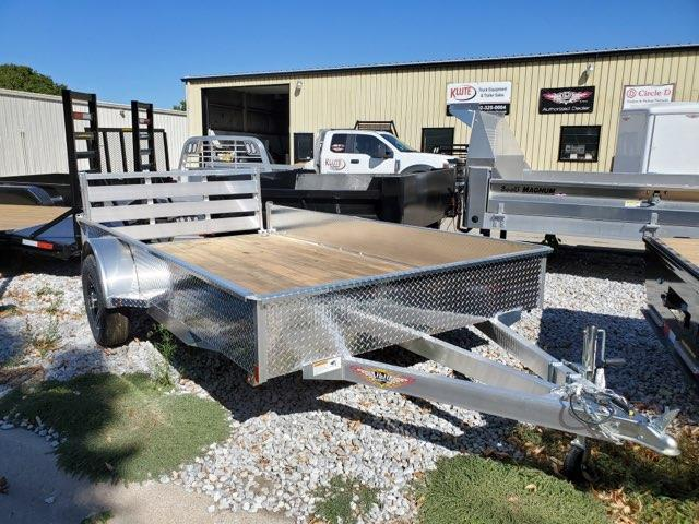 2022 H and H Trailer 76x12 Aluminum Solid Side Utility Trailer 3K Idler Utility Trailer
