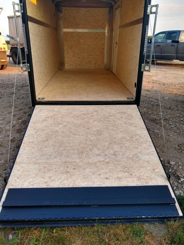 2021 H and H Trailer 6X12 SINGLE RND TOP HH R-NOSE 3.5K CARGO