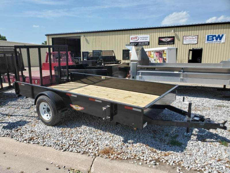 2021 H and H Trailer 76x12 Solid Side Utility Trailer  5K Bra