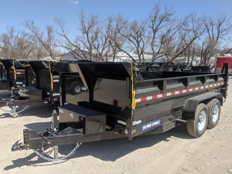 2020 Sure-Trac 82 x 14 14K HD Low Profile (Scissor) Dump Trailer