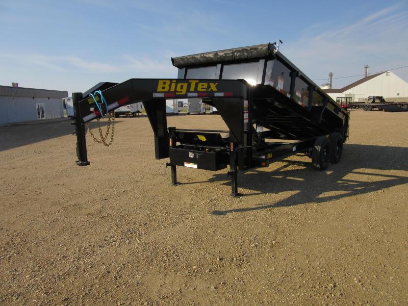 2022 Big Tex Trailers 16' GOOSENECK DUMP Dump Trailer