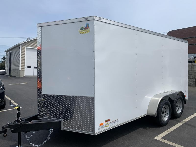Covered Wagon 7 x 14 + 2' V Tandem Axle Enclosed Cargo Trailer