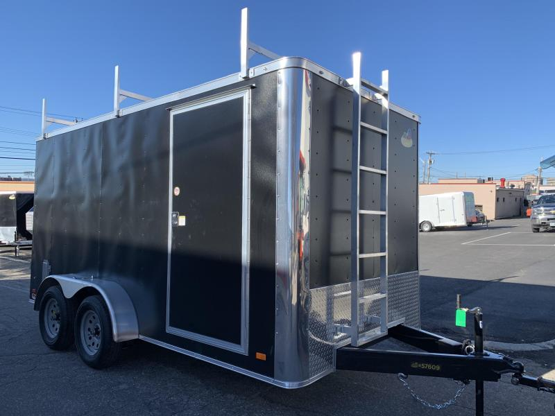 Covered Wagon 7 x 14 Contractor Trailer w/ Barn Doors
