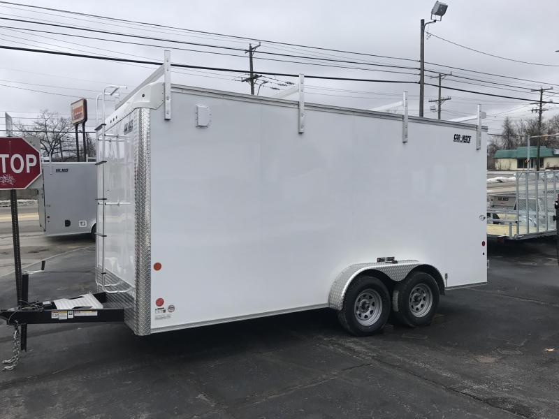 Car Mate 7 x 16 Enclosed Contractor Trailer w/ Barn Doors