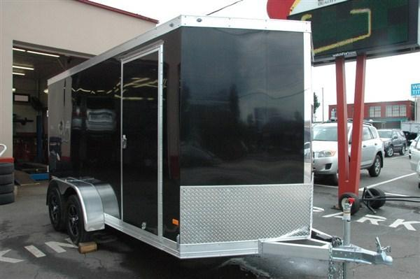 DuraBull 7 x 14 + 2' V Aluminum Enclosed Cargo Trailer w/ Ramp
