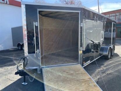 Covered Wagon 7' x 18' + 5' V Snowmobile Trailer