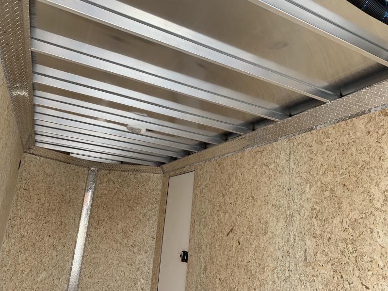DuraBull 6 x 12 + 2' V Aluminum Enclosed Cargo Trailer w/ Ramp and Brakes