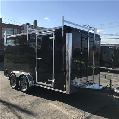 Car Mate 7 x 14 Enclosed Contractor Trailer w/ Barn Doors