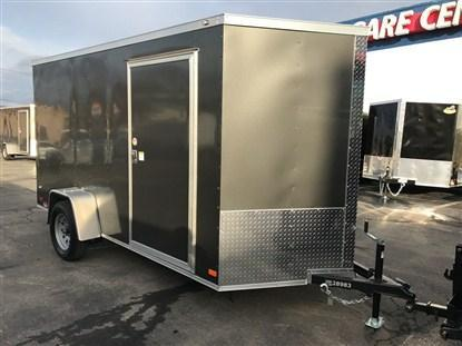 Covered Wagon 7 x 12 + 2' V Single Axle Enclosed Cargo Trailer