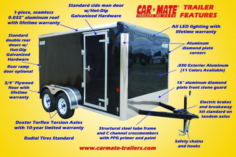 Car Mate 8.5 x 22 Enclosed Car Hauler w/ 45 gal Fuel Tank Package