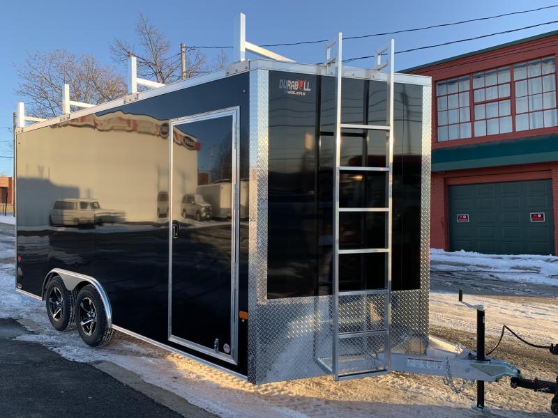 DuraBull 8.5 x 16 + 2' V Aluminum Contractor Trailer w/ Ramp Door