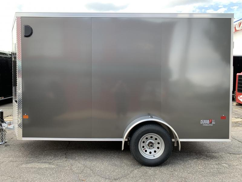 DuraBull 6 x 12 + 2' V Aluminum Enclosed Cargo Trailer w/ Ramp