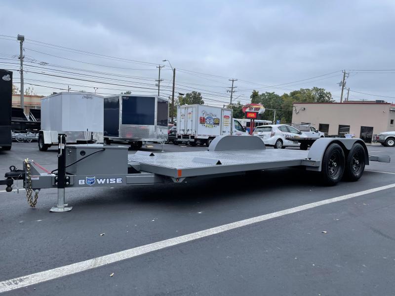 2022 B-Wise 20' 10k Hydraulic Tilt Car Hauler Trailer