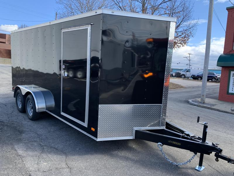 Covered Wagon 7 x 16 + 2' V Tandem Axle Enclosed Cargo Trailer
