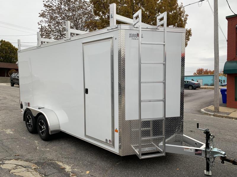 DuraBull 7 x 16 + 2' V Aluminum Contractor Trailer w/ Barn Doors