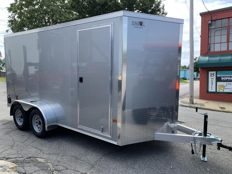 DuraBull 7 x 16 +2' V Aluminum Enclosed Cargo Trailer w/ Ramp
