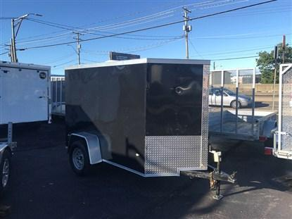 Covered Wagon 5' x 8' + 2' V Single Axle Enclosed Cargo Trailer