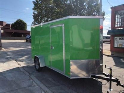Covered Wagon 6 x 12 + 2' V Single Axle Enclosed Cargo Trailer