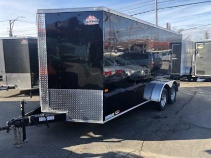 Rock Solid 7 x 16 + 2' V Tandem Axle Enclosed Cargo Trailer