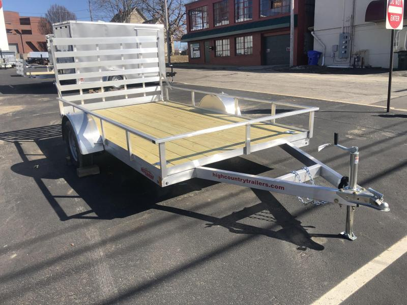 "2021 High Country Trailers 80""X12' Aluminum Utility Trailer"