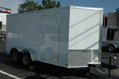 "Covered Wagon 7 x 16 + 2' V Enclosed Cargo Trailer 6'6"" INTERIOR HEIGHT"