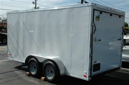 """Covered Wagon 7 x 16 + 2' V Enclosed Cargo Trailer 6'6"""" INTERIOR HEIGHT"""