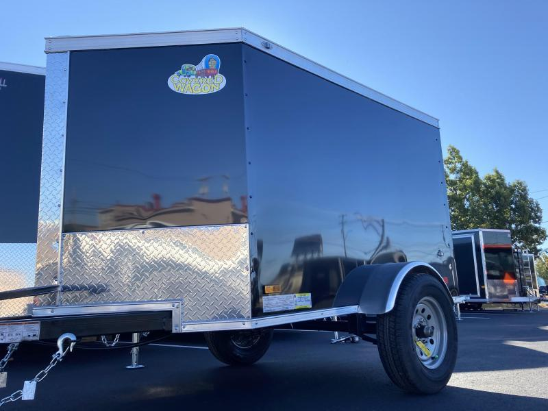 Covered Wagon 4' x 6' + 2' V Single Axle Enclosed Cargo Trailer