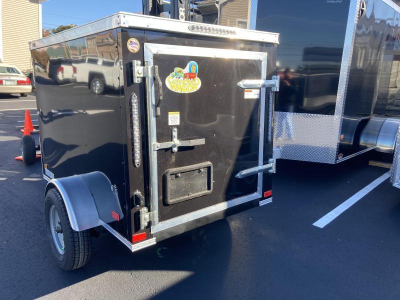 Covered Wagon 4' x 6' + 2' V Single Axle Enclosed Cargo Trailer